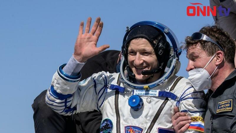 Kosmosda 6 ay qalan 3 kosmonavt Yerə qayıtdı